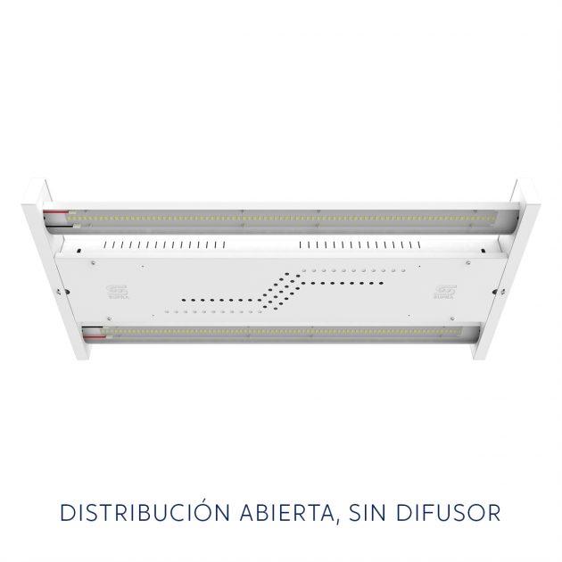 Luminaria HB5-3 sin difusor, distribución dirigida - SUPRA DESARROLLOS